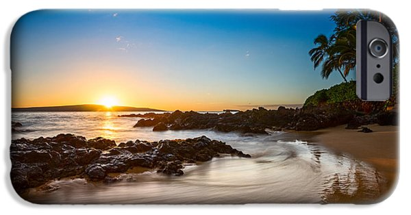Ocean Sunset iPhone Cases - Secret Beach Sunset iPhone Case by Jamie Pham