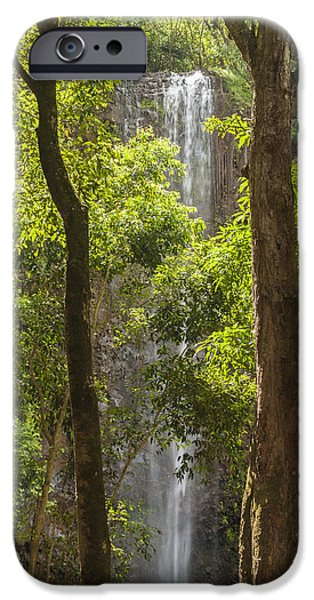 Wildlife Photographer iPhone Cases - Secret Falls 3 - Kauai Hawaii iPhone Case by Brian Harig
