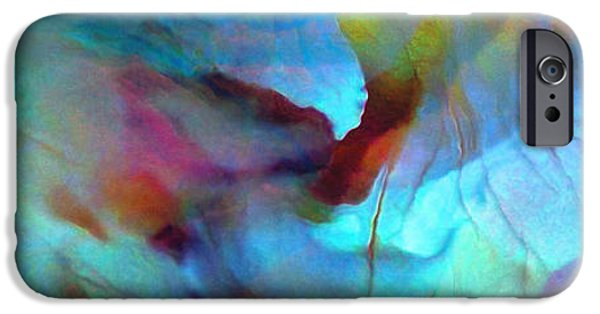 Abstract Flowers iPhone Cases - Secret Garden - Abstract Art iPhone Case by Jaison Cianelli