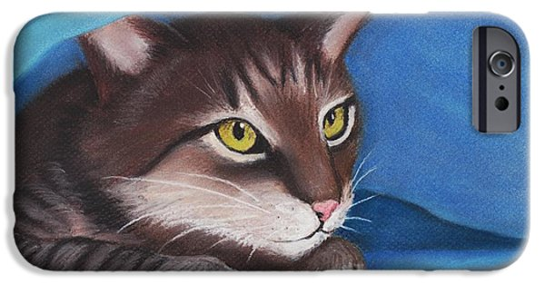 Animal Cards Pastels iPhone Cases - Secret Hideout iPhone Case by Anastasiya Malakhova