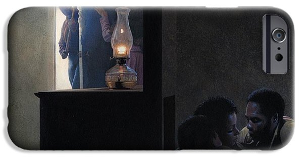 Escape Paintings iPhone Cases - Secret Room for Runaway Slaves iPhone Case by Rob Wood