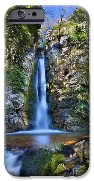 Adventure Photographs iPhone Cases - Secret Waterfall iPhone Case by Simon Kayne