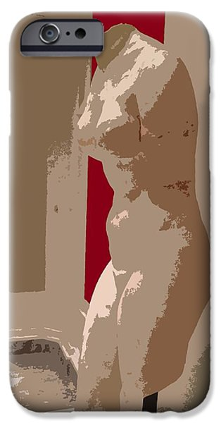 Film Sculptures iPhone Cases - Security Guard iPhone Case by Julio R Lopez Jr