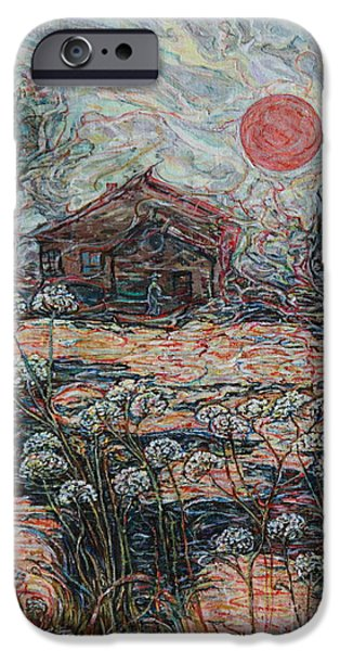 Cabin Window iPhone Cases - Sedgy Pond iPhone Case by Anna Yurasovsky