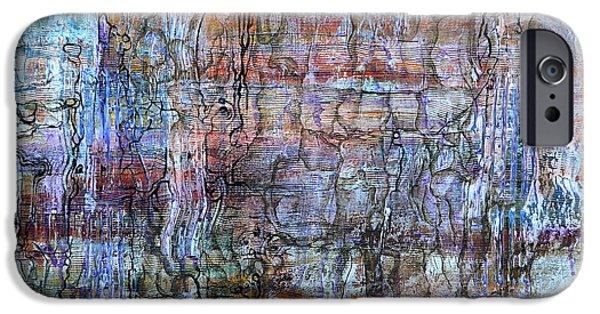 Ancient Reliefs iPhone Cases - Sediments iPhone Case by Regina Valluzzi