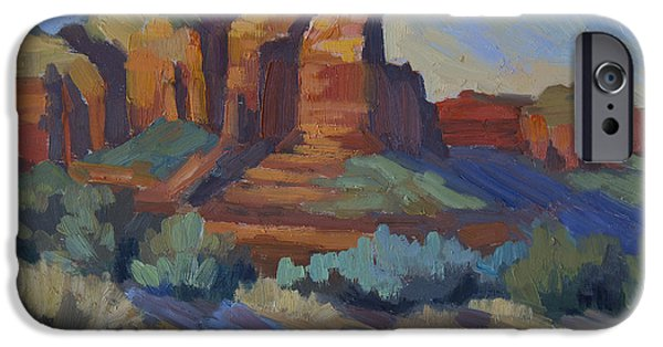 Sedona Paintings iPhone Cases - Sedona Afternoon Light iPhone Case by Diane McClary