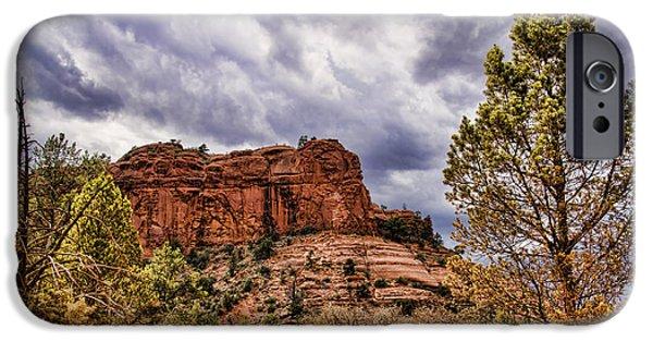 Sedona iPhone Cases - Sedona Arizona Mountain Scenery iPhone Case by Jon Berghoff