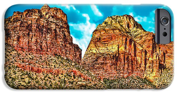 Oak Creek iPhone Cases - Sedona Arizona Secret Mountain Wilderness iPhone Case by  Bob and Nadine Johnston