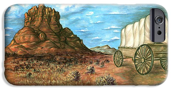 Sedona Drawings iPhone Cases - Sedona Arizona - Watercolor Landscape Painting iPhone Case by Peter Fine Art Gallery  - Paintings Photos Digital Art