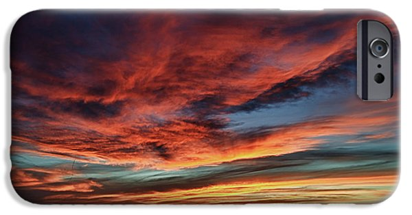 Sedona iPhone Cases - Sedona AZ Sunset 1 iPhone Case by Ron White