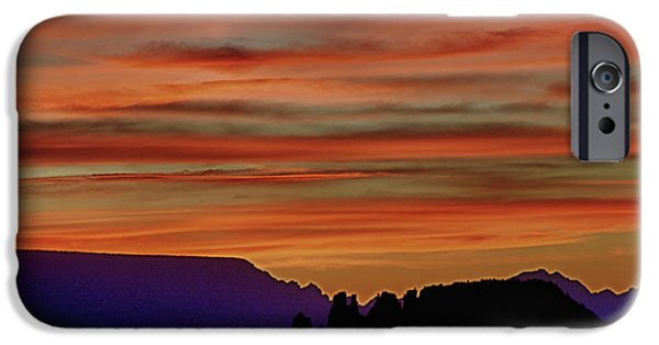 Sedona iPhone Cases - Sedona AZ Sunset 2 iPhone Case by Ron White