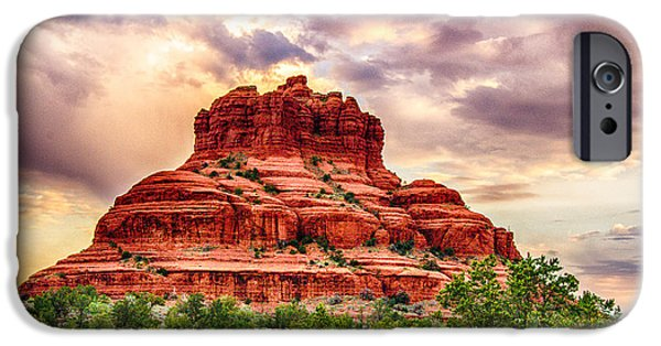 Recently Sold -  - Sedona iPhone Cases - Sedona Bell Rock Vortex in Spring iPhone Case by  Bob and Nadine Johnston