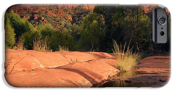Cathedral Rock iPhone Cases - Sedona Cathedral Rock Puddle iPhone Case by Martha Marks