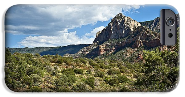 Oak Creek iPhone Cases - Sedona Desert Under Cloudy Skies iPhone Case by Lee Craig