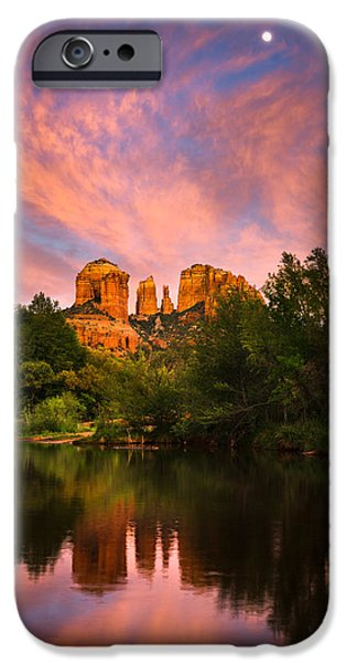 Sedona Moonrise iPhone Case by Adam  Schallau