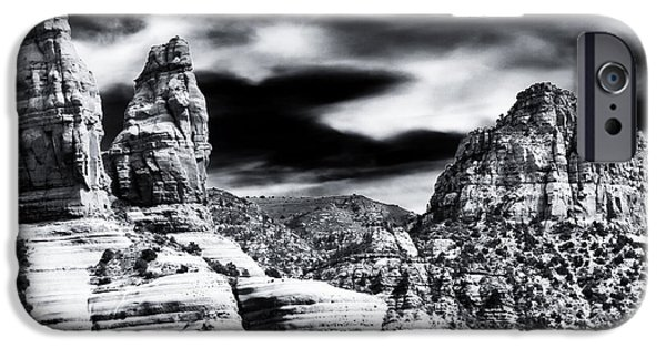 Sedona iPhone Cases - Sedona Mountain View iPhone Case by John Rizzuto