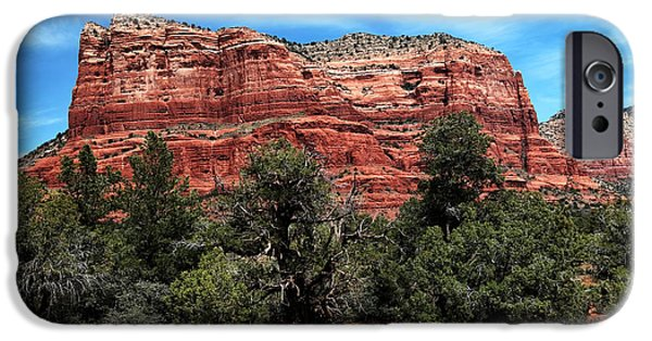 Sedona iPhone Cases - Sedona Mountains iPhone Case by John Rizzuto