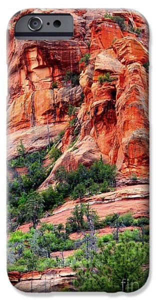 Oak Creek Canyon iPhone Cases - Sedona Perspective iPhone Case by Carol Groenen