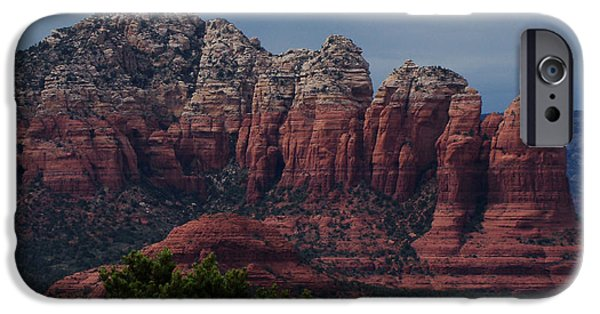Red Rock Mixed Media iPhone Cases - Sedona Red Rock Country  iPhone Case by Beverly Guilliams
