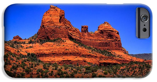 Sedona iPhone Cases - Sedona Rock Formations iPhone Case by David Patterson