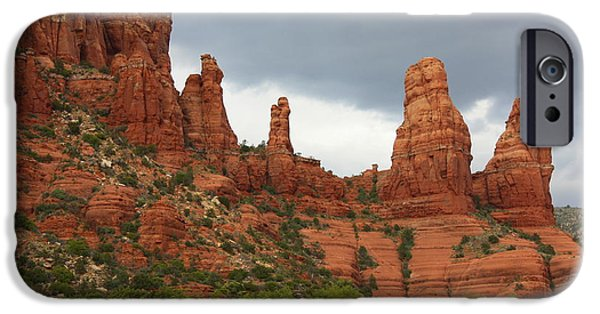 Sedona iPhone Cases - Sedona Sandstone iPhone Case by Carol Groenen