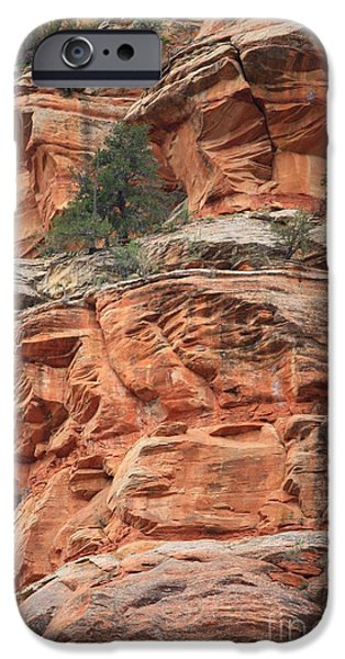 Sedona iPhone Cases - Sedona Sandstone Cliff iPhone Case by Carol Groenen