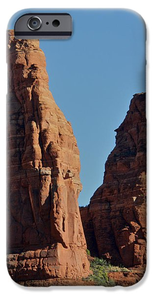 Cathedral Rock iPhone Cases - Sedona Sisters iPhone Case by Steven Lapkin