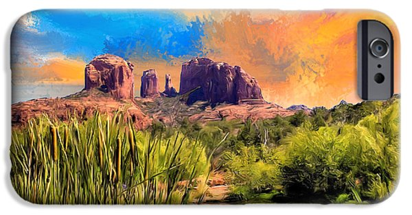 Cathedral Rock iPhone Cases - Sedona Sky iPhone Case by Dominic Piperata