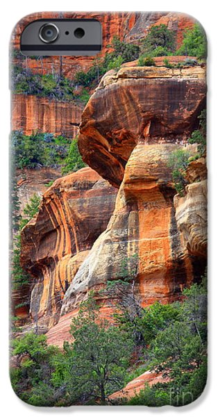Sedona iPhone Cases - Sedona Stripes iPhone Case by Carol Groenen