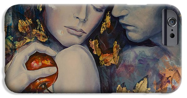 Eva iPhone Cases - Seduction iPhone Case by Dorina  Costras