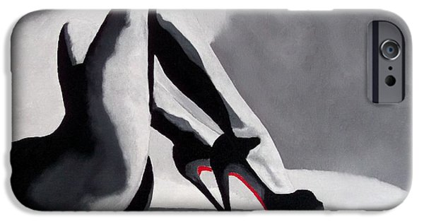 Fashion Abstract iPhone Cases - Seduction iPhone Case by Rebecca Jenkins