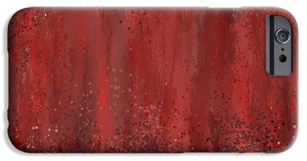 Pantone iPhone Cases - Seductive Embrace- Marsala art iPhone Case by Lourry Legarde