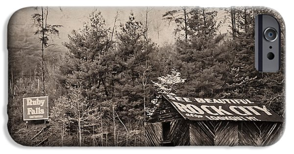Recently Sold -  - Old Barns iPhone Cases - See Rock City  iPhone Case by Debra and Dave Vanderlaan