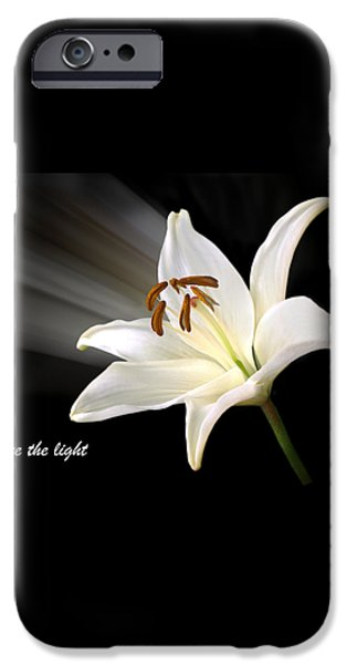 See The Light iPhone Case by Gill Billington