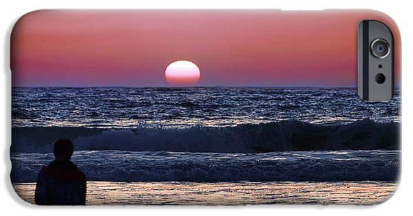 Surf Silhouette iPhone Cases - See the Sun Set iPhone Case by Camille Lopez