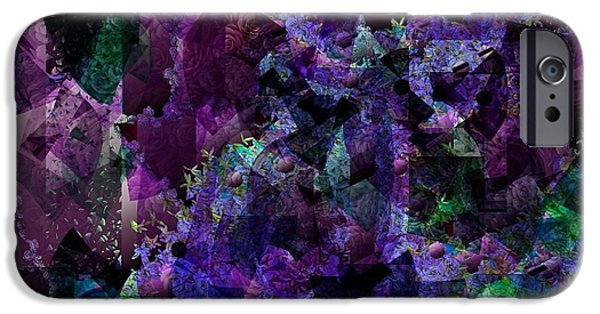 Nature Abstract Tapestries - Textiles iPhone Cases - See Through iPhone Case by Claire Masters