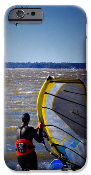 Kite Boarding iPhone Cases - See Ya Roun iPhone Case by Robert McCubbin