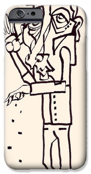 Feed Drawings iPhone Cases - Seeds iPhone Case by Arnold Rethy