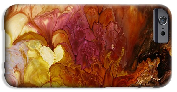Cellular Mixed Media iPhone Cases - Seeds Of Change iPhone Case by Lia Melia