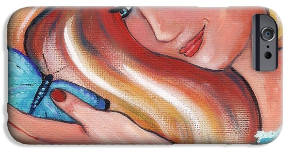 Inner Self Paintings iPhone Cases - Seeing Anew iPhone Case by MarLa Hoover