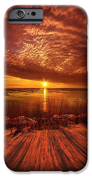 Frozen Lake iPhone Cases - Seeing Beyond iPhone Case by Phil Koch