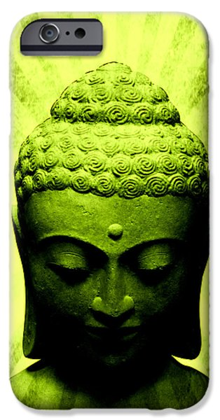 Michelle Mixed Media iPhone Cases - Seek Within Buddha iPhone Case by Michelle Dallocchio