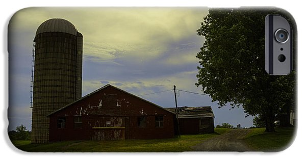 Old Barns iPhone Cases - Seen Better Days in Bethel iPhone Case by Madeline Ellis