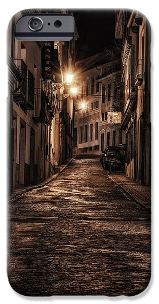 Night Lamp iPhone Cases - Segovia PreDawn iPhone Case by Joan Carroll