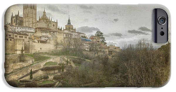 Buildings iPhone Cases - Segovia View iPhone Case by Joan Carroll