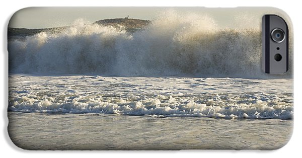 Down East iPhone Cases - Seguin Island Lighthouse from Popham Beach iPhone Case by Keith Webber Jr