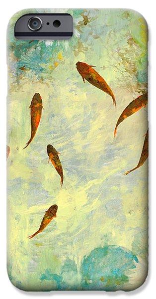 sei pesciolini verdi iPhone Case by Guido Borelli