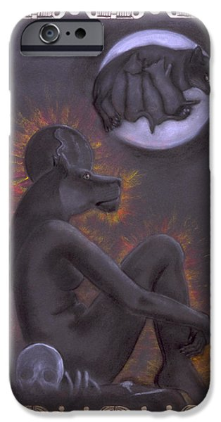 Best Sellers -  - Hathor iPhone Cases - Sekhmet and Bastet iPhone Case by Diana Perfect