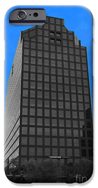 Architectur iPhone Cases - Selective Color Hi Rise iPhone Case by Bill Woodstock