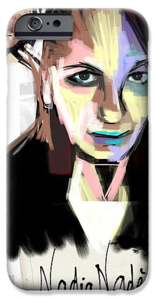 Best Sellers -  - Multimedia iPhone Cases - Self-portrait 17 iPhone Case by Nadia NADEGE